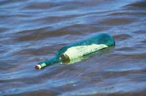 mensajes en botella