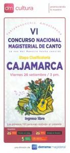 VI Concurso Nacional de Canto Magisterial
