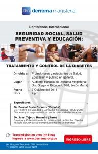 Conferencia Internacional Seguridad Social, Salud Preventiva y Educación: Tratamiento y control de la diabetes