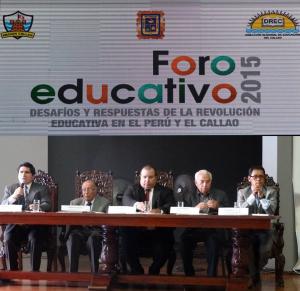 Foro Educativo Desafíos y respuestas de la revolución educativa en el Perú y en el Callao