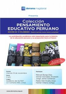Colección Pensamiento Educativo Peruano llega al Sutep