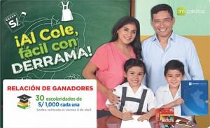Campaña de Crédito Escolar: Relación de Ganadores