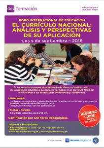 Programa del Foro Internacional de Educación: 7, 8 y 9 de septiembre