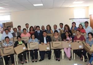 Derrama Magisterial entregó Laptops en Trujillo
