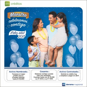 Martes 17 de enero: Sorteo por Campaña de Créditos