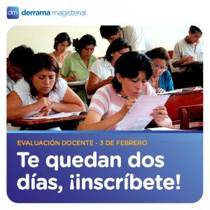 Vence plazo de inscripciones para evaluación docente