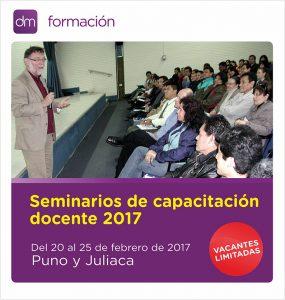 Del 20 al 25 de febrero: Capacitación docente en Puno y Juliaca