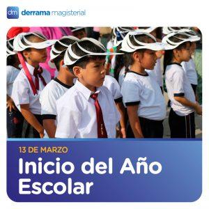13 de marzo: Se inician las clases en el sector público
