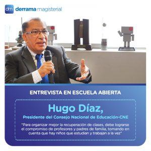 Estrategias para el desarrollo del año escolar 2017: Entrevista a Hugo Díaz, presidente del CNE