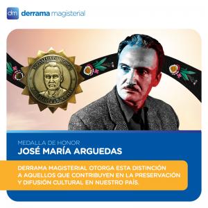 Medalla de Honor José María Arguedas 2017: Conoce a los galardonados de este año