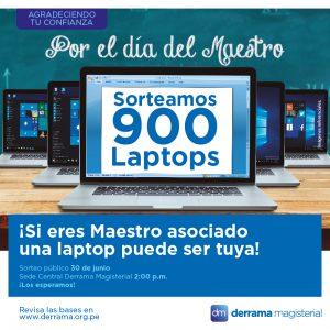 Viernes 30 de junio: Gran Sorteo Nacional de Laptops 2017 por el Día del Maestro