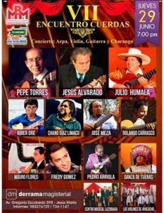 VII Encuentro Cuerdas del Ande: 29 y 30 de junio, 7pm.