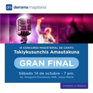 14 de octubre: Gran Final del IX Concurso Nacional de Canto Magisterial Takiykusunchis Amautakuna
