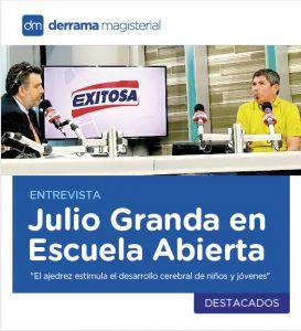 """Entrevista a Julio Granda: """"El ajedrez es muy recomendable para niños y jóvenes"""""""
