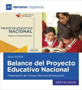 Consejo Nacional de Educación presentó el Balance del Proyecto Educativo Nacional