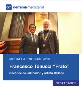 Medalla Encinas a reconocido artista y educador italiano Francesco Tonucci