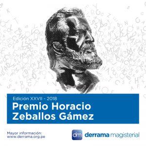 Premio Horacio 2018: Bases disponibles online