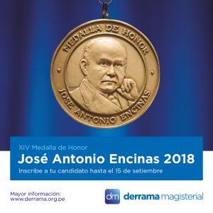 Medalla Encinas 2018: Ampliamos plazo para postulaciones