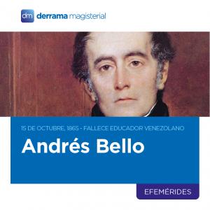 15 de octubre de 1865: Fallece educador venezolano Andrés Bello