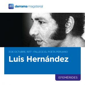 3 de Octubre: Luis Hernández (1941-1977), la poesía absoluta