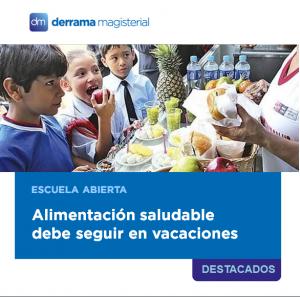Escuela Abierta: Alimentación saludable en vacaciones